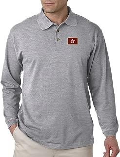 Hong Kong Embroidery Design Adult Long Sleeve Unisex Polo Jersey Shirt