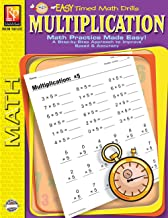 Easy Timed Math Drills: Multiplication | Reproducible Activity Book
