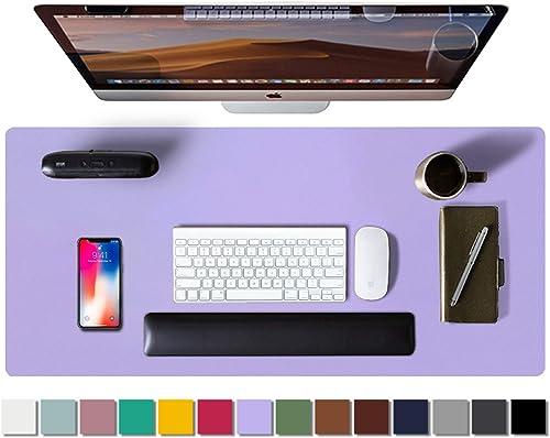 Aothia Tapis de bureau,tapis de souris,buvard de bureau en cuir PU antidérapant,protecteur de bureau pour ordinateur ...