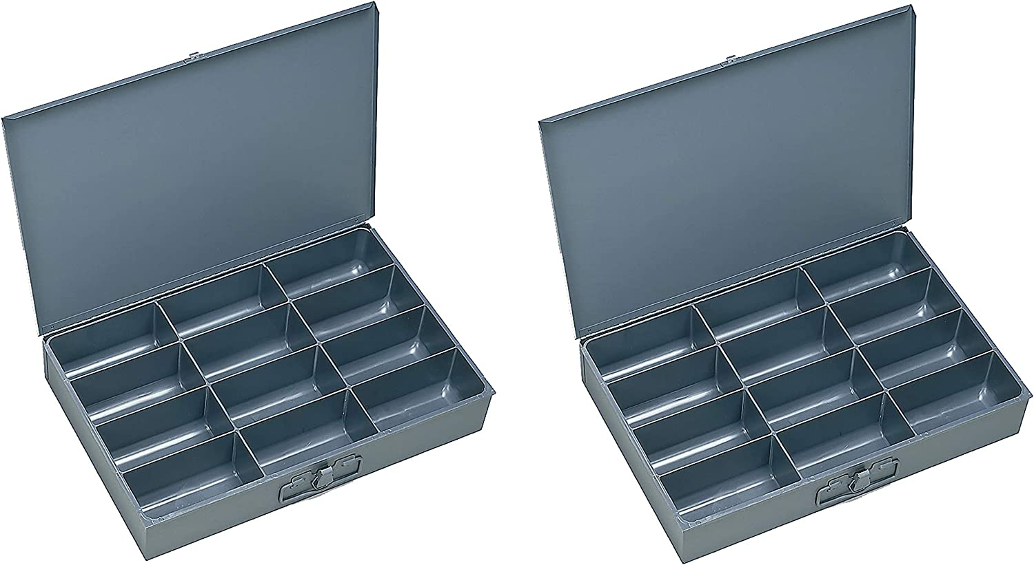 Durham 115 95 Ind Gray Cold Rolled Steel Individual Large Scoop Box 18 Width X 3 Height X 12 Depth 12 Compartment 2 Pack Amazon Com