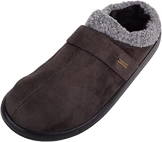 ABSOLUTE FOOTWEAR Mens Slip On EE Wide Fitting Mules/Slippers/Shoes with Cuff