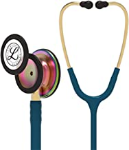 3M Littmann Classic III Monitoring Stethoscope, Rainbow-Finish, Caribbean Blue Tube, 27 inch, 5807