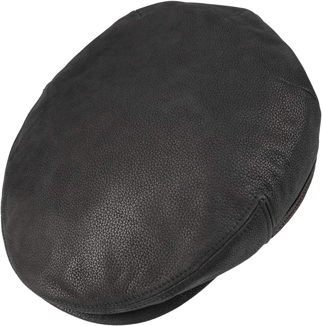 hat Ear Flaps with Peak Stetson Kent Earflaps Leather Flat Cap Men Lining Autumn-Winter Flaps