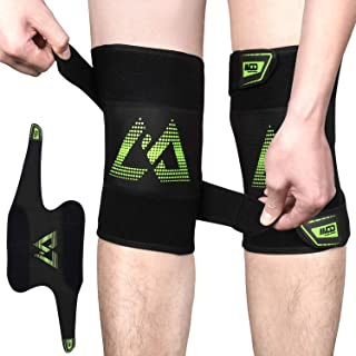 Yobenki Knee Brace 2 PCS, Knee Sleeves Adjustable Knee Pads Knee Compression Sleeves for Running, Sports, Arthritis, Meniscus Tear, Joint Pain Relief, Injury Recovery and More