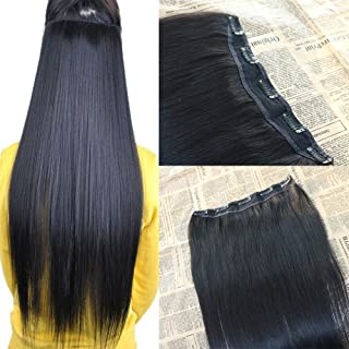 30 inch 70g Clip ins Hairpiece with 5 clips 100% Real Remy Clip in Human Hair Extensions Thick End Virgin Hair Extensions Seamless Invisible Clip in Extensions Human Hair