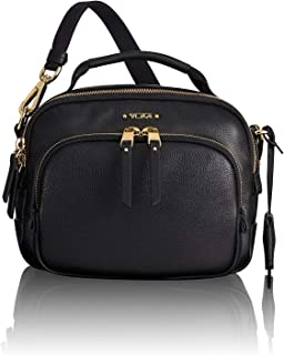TUMI - Voyageur Troy Leather Crossbody Bag - Satchel Purse for Women - Black