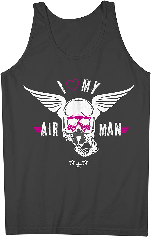 I Love My Airman Pilot 男性用 Tank Top Sleeveless Shirt