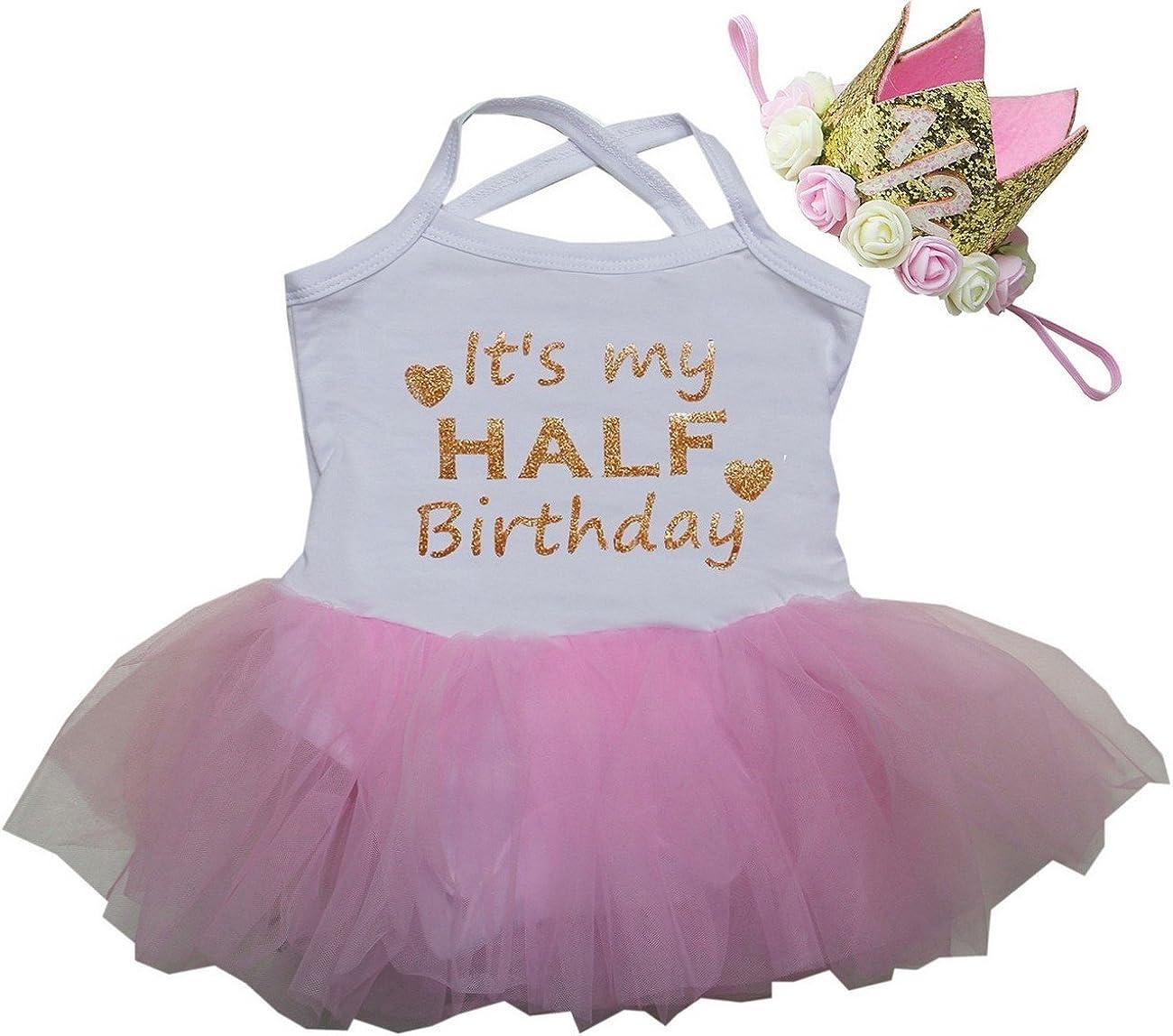 Many popular brands Kirei Sui Baby Super-cheap Half Birthday Tulle Crow Gold 2 1 Bodysuit Tutu