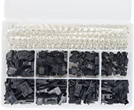 XLX 560Pcs 2.5mm Pitch JST-SM 2/ 3/ 4/ 5/ Pin Male / Female Plug Housing and Male / Female Pin Header Crimp Terminal Connector Assortment Kit ( 4 Size, 80 Set, each 20 Set )