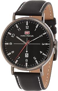 Mini Focus Mens Quartz Watch, Analog Display and Leather Strap - MF0019G.03