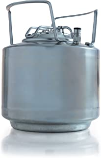 Draft Brewer Stackable Cannonball Stainless Steel 1.75 Gallon Mini Ball Lock Keg
