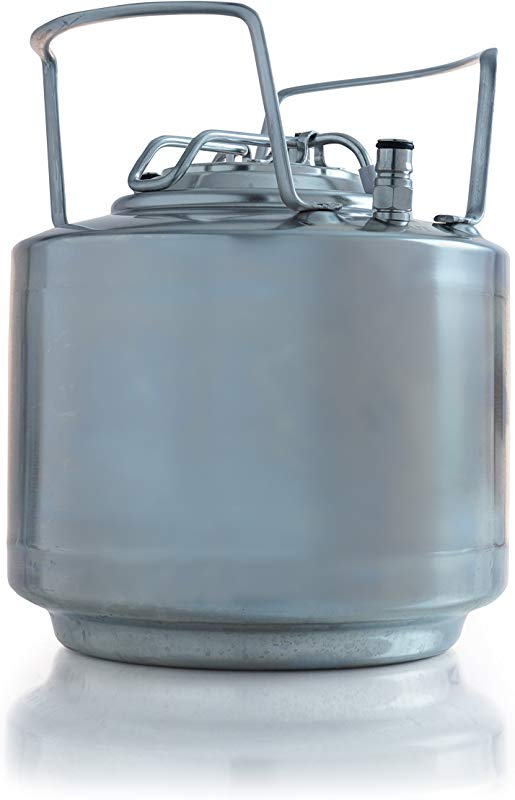 Draft Brewer Stackable Cannonball Stainless Steel 1 75 Gallon Mini Ball Lock Keg