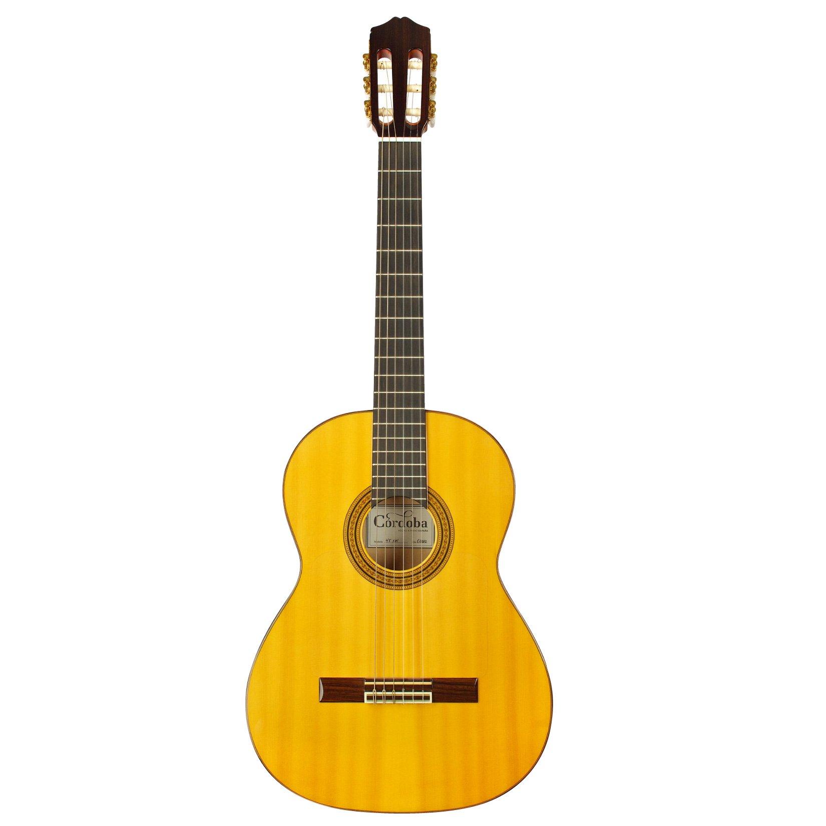 Guitarras clásicos Cordoba Espana 45 FM + funda clásicos 4/4 ...