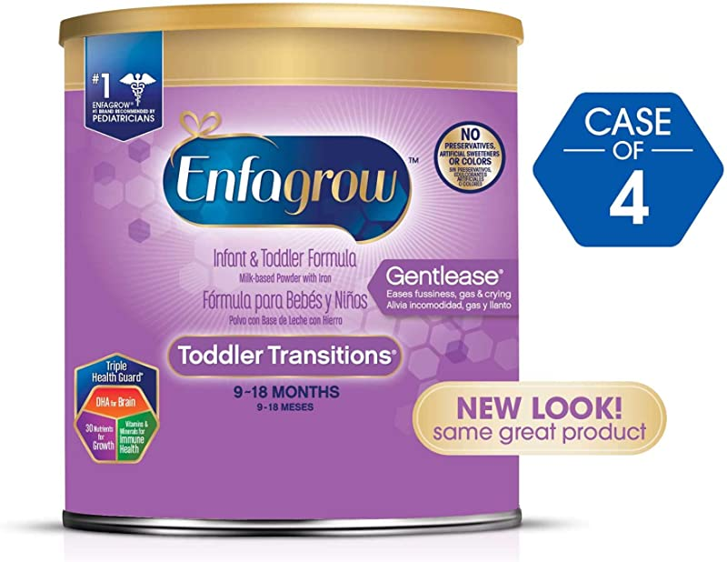 Enfagrow Gentlease Toddler Formula Powder 20 Oz 4 Pk