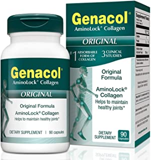 Genacol AminoLock Collagen | Joint Support & Relief for Men & Women | Hydrolyzed Collagen Peptides for Healthy Bones, Tendon, Ligaments, Skin, Hair & Nails | 90 Supplement Capsules