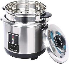 Huishouden 3L 4L 5L 6L verdikt externe roestvrijstalen steamer rijstkoker, alle roestvrijstalen stoomboot one-knop control...