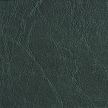G619 Forest Green Distressed Outdoor Indoor Faux Leather Upholstery Vinyl by The Yard