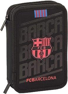 FCB FCBARCELONA- Estuches Unisex Adulto Plumier Doble pequeño 34 Piezas de FC Barcelona 'Black' 411927-054 pqño pcs f.c.Barcelona 13,5x20,5x4,5,, Talla única (SAFTA 1)