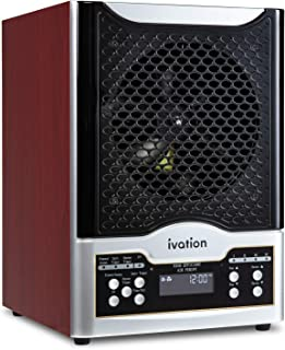 Ivation 5-in-1 HEPA Air Purifier & Ozone Generator W/Digital Display Timer and Remote, Ionizer & Deodorizer 3,700 Sq/Ft – HEPA, Carbon and Photocatalytic Filters, UV Light and Negative Ion Generator