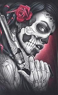 Bordado de Punto de Cruz cráneo Fresco,Pintura Diamante Cristal Manualidades Cuadro Diamantes mosaicos Diamond Painting diseño de Pistola de perforación Completa, Decoracion para Salon 30 x 40 cm