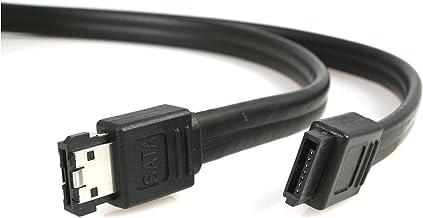 StarTech.com Cable 1,8m Adaptador eSATA a SATA Serial ATA de Datos Blindado - Adaptador para Cable (Negro)