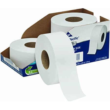 Georgia Pacific Professional Series Jumbo Jr Papel Higiénico De 2 Capas Por Gp Pro Georgia Pacific 2172114 1000 Pies Por Rollo 4 Rollos Por Caja Home Improvement
