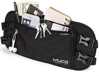 comprar comparacion MUCO Viaje Riñonera, Titular del Pasaporte,Bloqueo RFID Cadera para Mujeres y Hombres, Bolsa de Cintura de Viaje