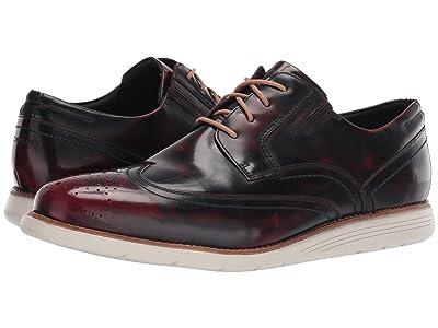 Rockport Total Motion Sports Dress Wing Tip (Black Cherry Leather) Men