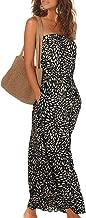 Alaster Queen Women's Strapless Bandeau Summer Long Floral Dress Off Shoulder Beach Maxi Dress with Pockets…