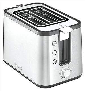 Testsieger Krups KH442D Control Line Premium Toaster, Edelstahl, 2-Schlitz Toaster, Brötchenaufsatz silber/schwarz