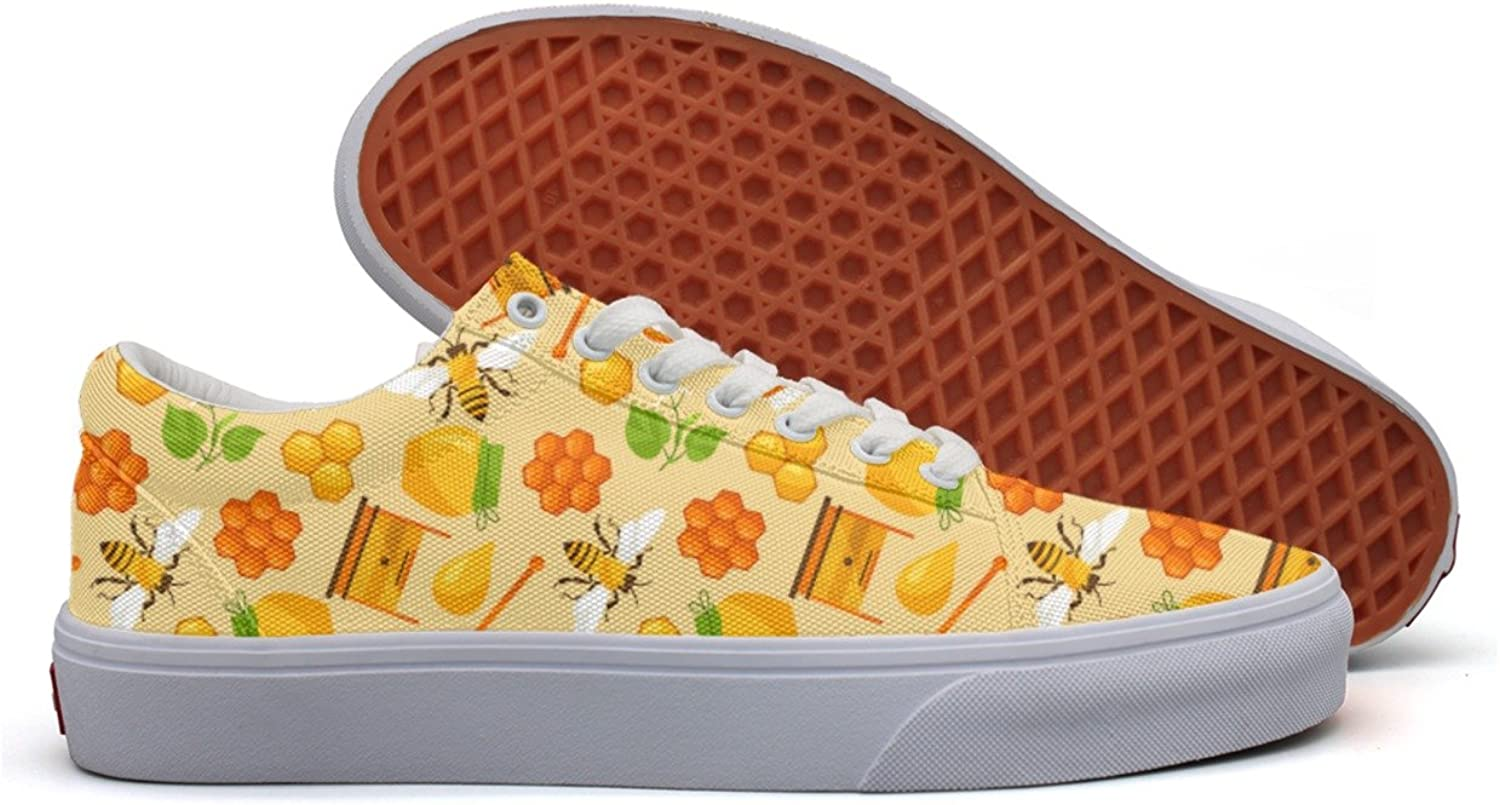 Hjkggd fgfds Casual Honey and Bee Objects Woman Canvas shoes