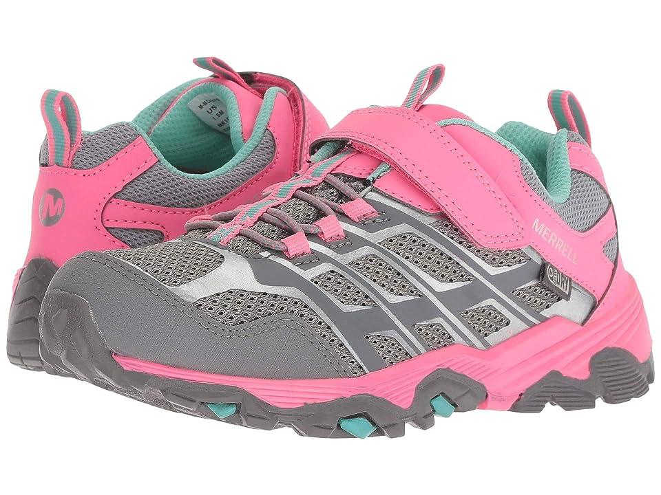 Merrell Kids Moab FST Low A/C Waterproof (Little Kid) (Grey/Coral) Girls Shoes