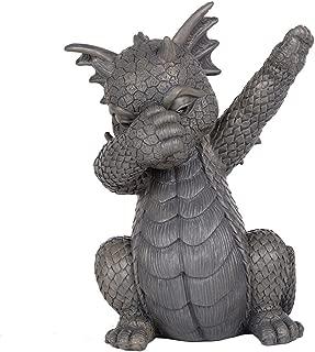 Pacific Giftware Garden Dragon Dabbing Dragon Garden Display Decorative Accent Sculpture Stone Finish 10 Inch Tall