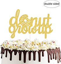 Donut Grow Up Cake Topper, Welcome Baby, 1st Birthday,6 Months Baby Shower Party Decorations