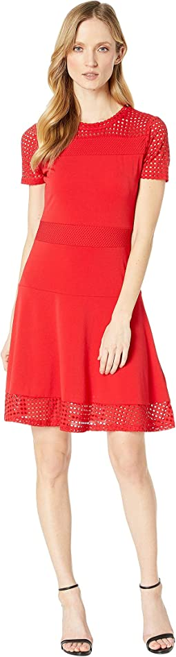 d5da3ce9068 Roper 9589 coral paisley print mesh tank dress red