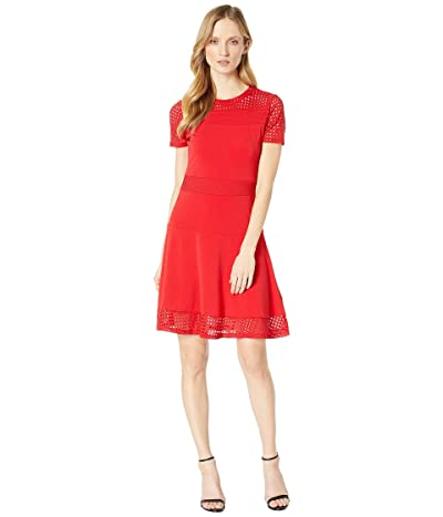 MICHAEL Michael Kors Mesh Combo Dress (Scarlet) Women