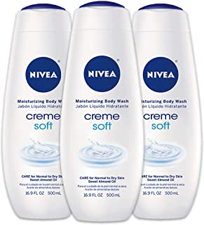 NIVEA Crème Soft Moisturizing Body Wash - Fresh Scent for Dry Skin - 16.9 fl. oz. Bottle (Pack of 3)