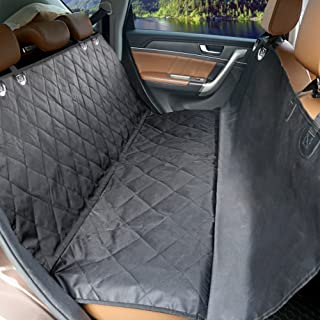 Dog Car Seat Cover SCOPOW Durable Scratch Proof & Nonslip & 100% Waterproof Pet Seat Cover for Car Truck SUV with Adjustable Seat Belt