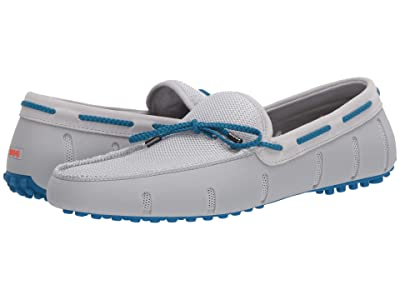 SWIMS Braided Lace Loafer Driver (Glacier Gray/Turkish Tile) Men