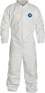 DuPont Tyvek 400 TY125S Disposable Protective Coverall with Elastic Cuffs, White, Medium (Pack of 6)