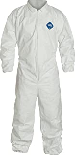 DuPont Tyvek 400 TY125S Disposable Protective Coverall with Elastic Cuffs, White, X-Large (Pack of 25)