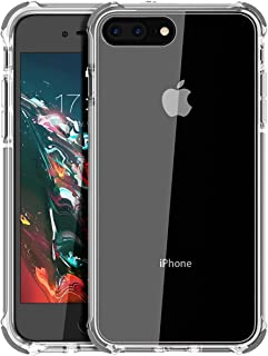 MATEPROX iPhone 8 Plus Case iPhone 7 Plus Case Clear Shield Heavy Duty Anti-Yellow Anti-Scratch Shockproof Cover Compatible with iPhone 8p/7p Gray