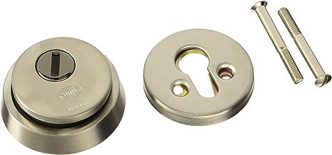 Keyhole Covers acero inoxidable anticorrosi/ón desmontable, con tornillos, cepillado, alta resistencia, resistente al desgaste, perfil europeo Juego de 2 fundas para cerradura