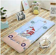 Futon Tatami Mattress,Student Dormitory Mattress,Plus Thick Sponge, Soft and Comfortable,Foldable Single/Double Mattress,Blue