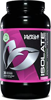 Muscle Feast Grass Fed Whey Protein Isolate, All Natural, Hormone Free, Fast Digesting, 100% Pure Isolate, 20.5g Protein, ...