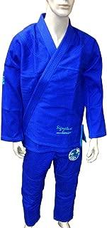 Woldorf USA Brazilian Jiu Jitsu Kimono Pearl Weave Gi Competition Uniform Blue with Rip Stop Pants Size 4 A2