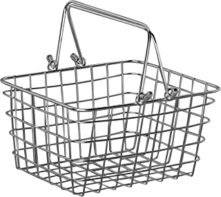 Spectrum Diversified Small Wire Storage Basket With Handles, Rustic Farmhouse Basket With..