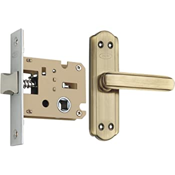Spider Steel Baby Latch Keyless Lock Complete Set with Antique Brass Finish (S606BAB + KBL) (Bathroom & Bedroom Latch)