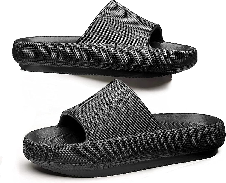 Mens Womens Slide Sandals Pillow Slides Shower Slippers Cloud Cushion Slides Bath Slippers Women Sootheez Rubber Slides House Shoes