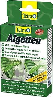 Tetra Algetten Prevención y Combate de Algas en Acuarios (Control de Todo tipo de Algas) (12 Pastillas) - Incluye Pastillero y Ventosa de Sujeción